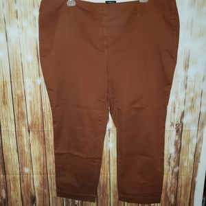 Lands End 24W Fit 2 Plus Size Chino Pants